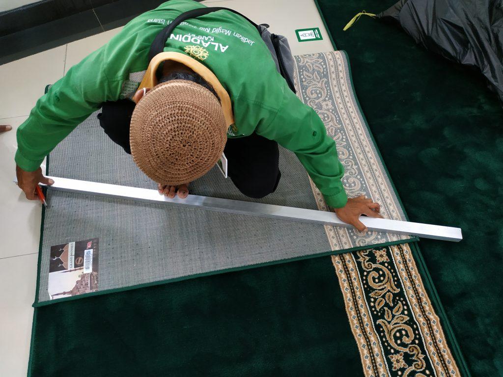 karpet masjid, tips memotong karpet masjid