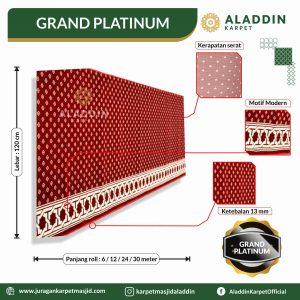 karpet masjid tipe grand paltinum, jual karpet masjid lokal