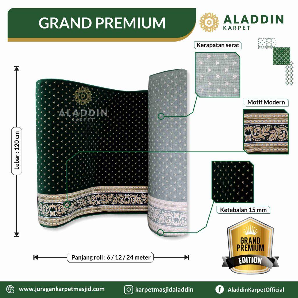 karpet masjid hijau tipe grand premium
