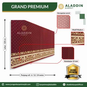 karpet masjid tipe grand premium, jual karpet masjid lokal