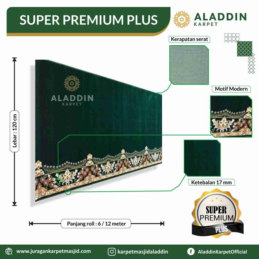 karpet masjid hijau tipe super premium plus