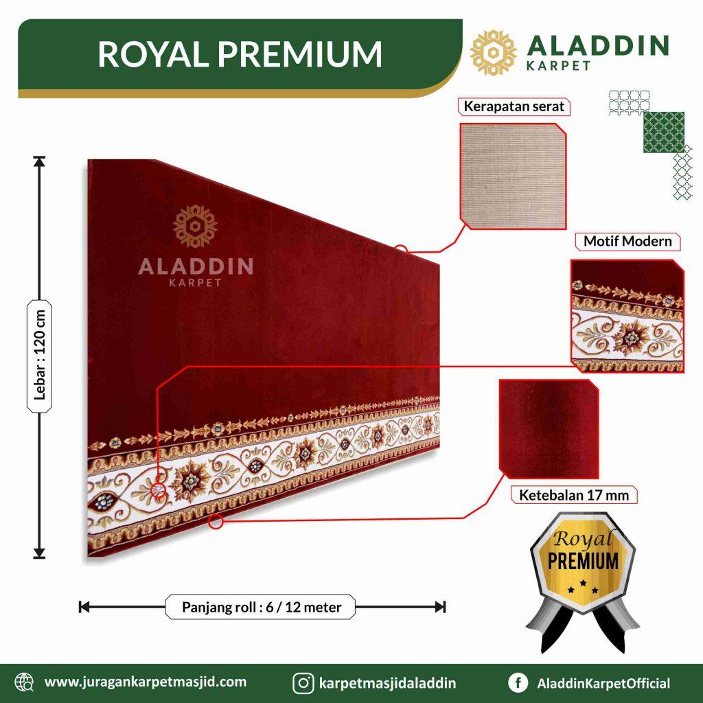 harga karpet masjid tipe royal premium