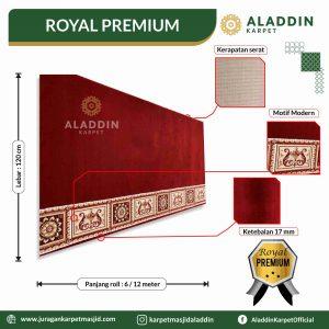 karpet masjid tipe royal premium, jual karpet masjid lokal