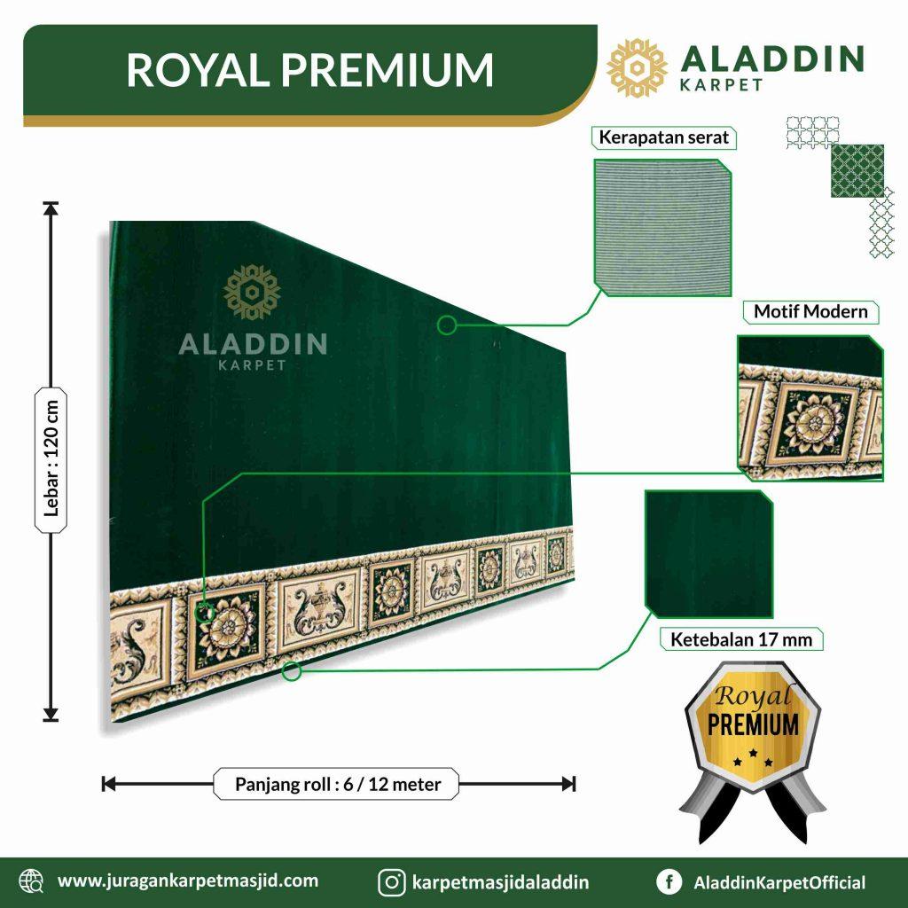 karpet masjid hijau tipe royal premium