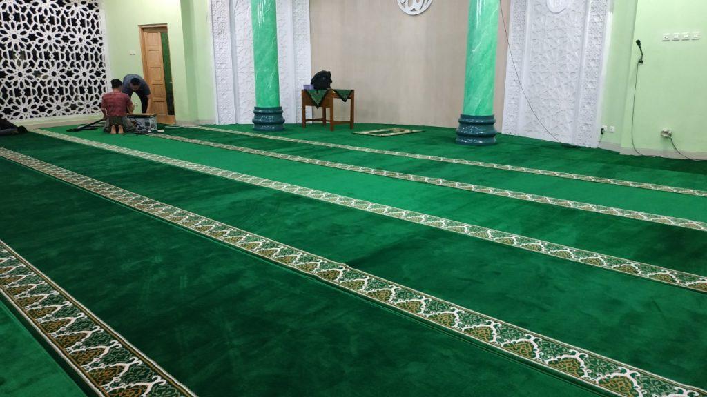 karpet masjid, cara memperbaiki karpet masjid